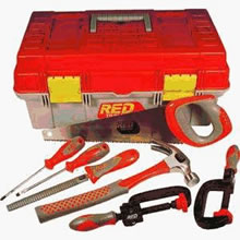 kid toolbox with clamp