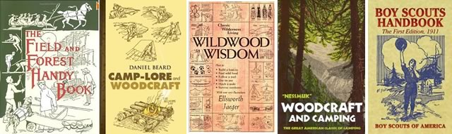 woods and woodland books from yesteryear