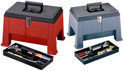 Stepstool tool box