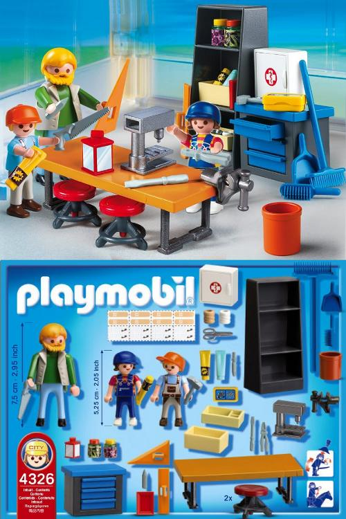 Playmobile workshop toy